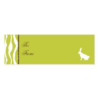 Selvagem sobre o Tag magro 2 do presente dos Cartão De Visita Skinny