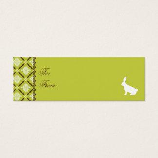 Selvagem sobre o Tag magro do presente dos coelhos Cartão De Visitas Mini
