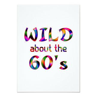 Selvagem sobre os anos 60 convites personalizado