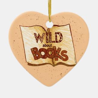 Selvagem sobre os livros que lêem o ornamento do