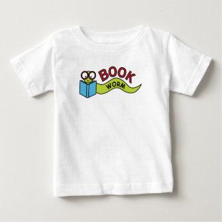 Sem-fim de livro camiseta para bebê