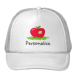 Sem-fim em Apple vermelho com nome Boné