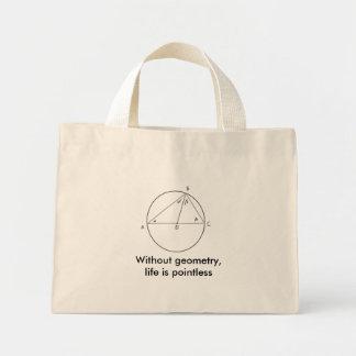 Sem geometria, a vida é injustificada bolsas para compras
