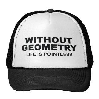 Sem geometria a vida é injustificada boné
