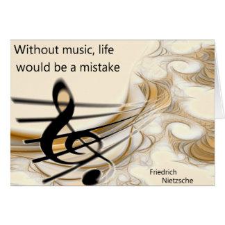 Sem o cartão das citações de Nietzsche da música