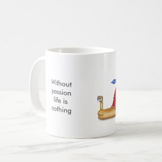 Sem paixão a vida não é nada caneca de café