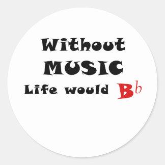 Sem vida da música B liso Adesivo