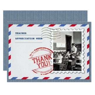Semana da apreciação do professor. Cartões