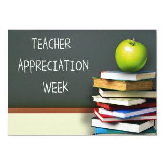 Semana da apreciação do professor. Cartões Convite 12.7 X 17.78cm