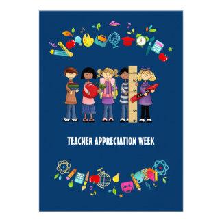 Semana da apreciação do professor Cartões customi