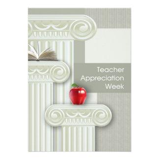 Semana da apreciação do professor. Cartões customi Convites