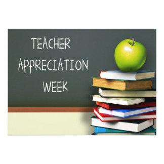 Semana da apreciação do professor. Cartões customi Convite Personalizados