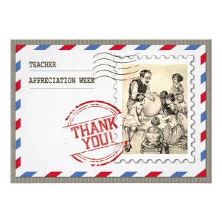 Semana da apreciação do professor. Cartões customi Convite