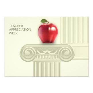 Semana da apreciação do professor. Cartões customi Convite Personalizado