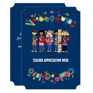 Semana da apreciação do professor. Cartões lisos Convite 12.7 X 17.78cm