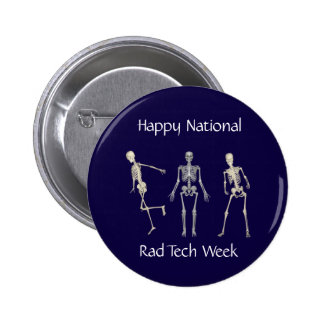Semana feliz da tecnologia do Rad do nacional Bóton Redondo 5.08cm