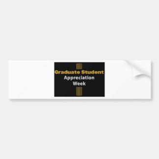 semana graduada da apreciação adesivo para carro