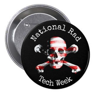 """""""Semana nacional da tecnologia do Rad"""" com crânio Bóton Redondo 7.62cm"""