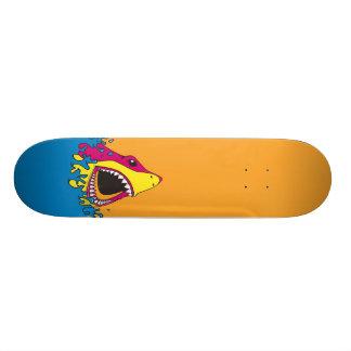 Semana retro do tubarão do anos 80 shape de skate 18,7cm
