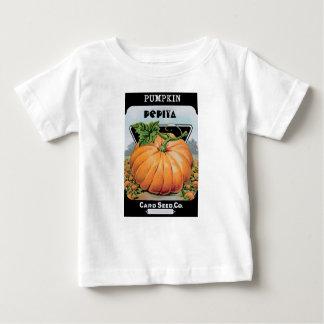 sementes de abóbora camiseta para bebê
