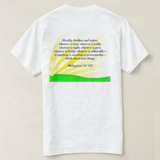 Sementes do sicômoro - 4:8 NIV dos Philippians Camiseta