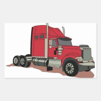 Semi caminhão adesivo retangular