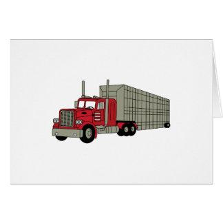 Semi caminhão cartão comemorativo