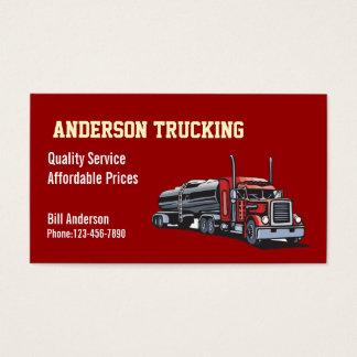 Semi caminhão de petroleiro do combustível cartão de visitas