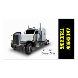Semi Caminhão Entrega Empresa Cartão De Visita