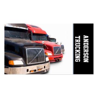 Semi Caminhão Transporte Empresa Cartão De Visita
