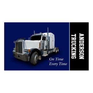 Semi entrega do caminhão cartão de visita