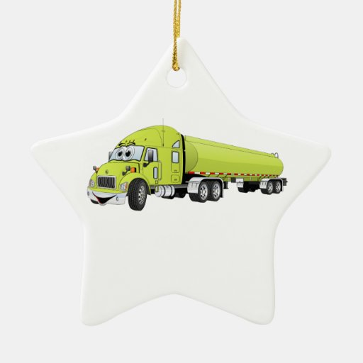 Semi luz do caminhão - desenhos animados verdes do ornamento
