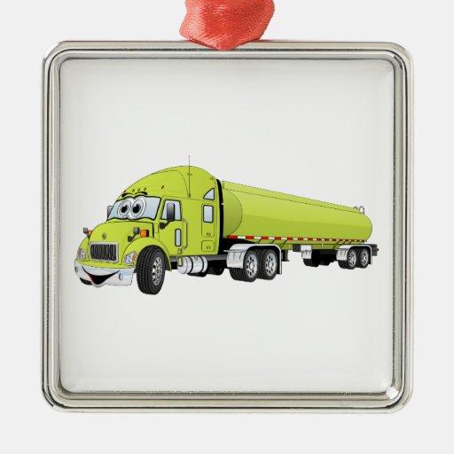 Semi luz do caminhão - desenhos animados verdes do enfeites de natal