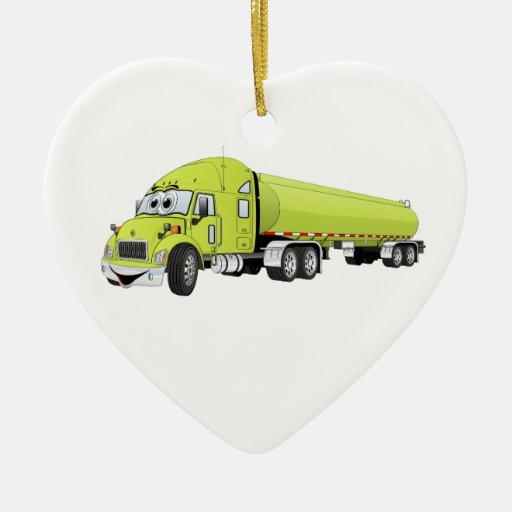 Semi luz do caminhão - desenhos animados verdes do ornamento para arvores de natal
