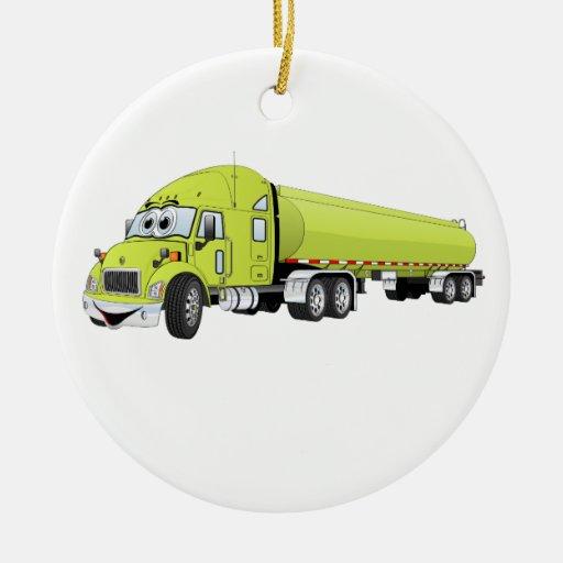 Semi luz do caminhão - desenhos animados verdes do enfeites para arvore de natal