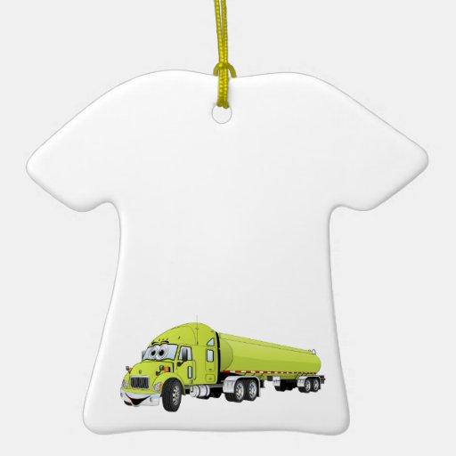 Semi luz do caminhão - desenhos animados verdes do enfeite