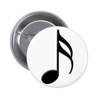 Semiquaver - símbolo de música da décima sexta not pins