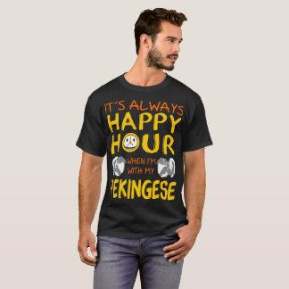 Sempre happy hour em que com minha camiseta de cão