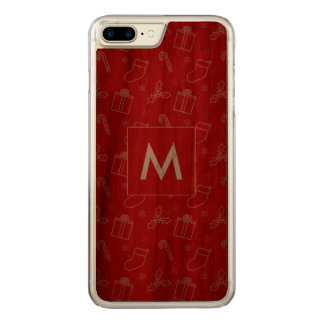 Sempre Natal elegante Capa iPhone 7 Plus Carved