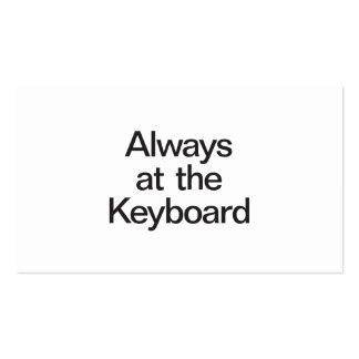 sempre no teclado cartao de visita