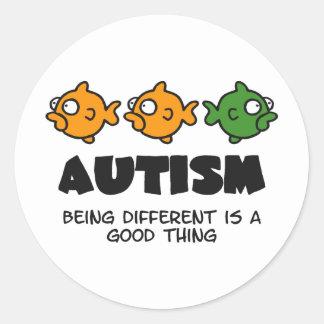 Sendo diferente - design do autismo adesivo