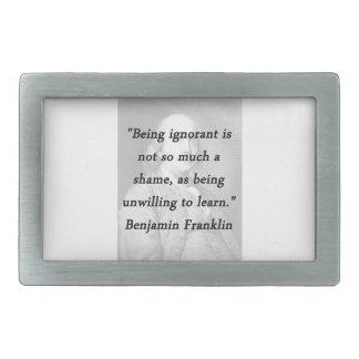 Sendo ignorante - Benjamin Franklin