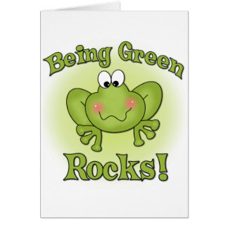 Sendo rochas verdes cartão