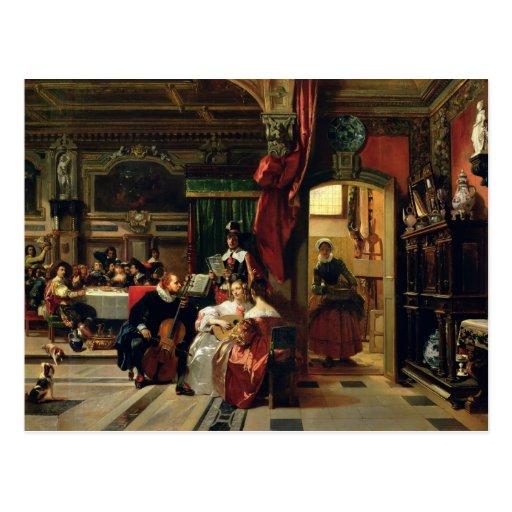 Senhor Anthony camionete Dyck em Londres, 1837 Cartões Postais