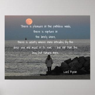 Senhor Byron - citações - impressão da arte