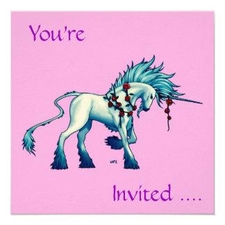 Senhor Convite Cartão do unicórnio…