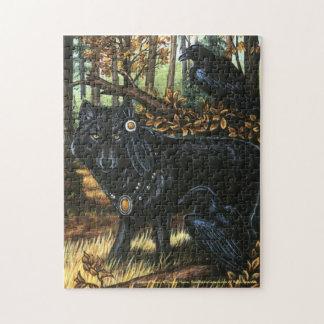 Senhor do quebra-cabeça preto do lobo dos corvos