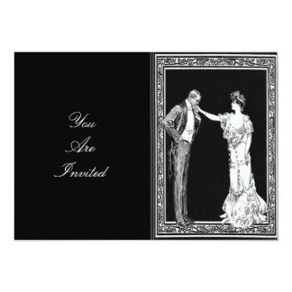 Senhor do Victorian e senhora Casamento Convite