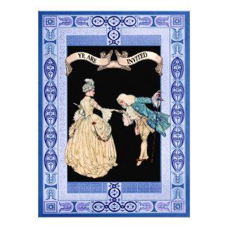 Senhor e senhora Beira e padrões Convites Personalizados