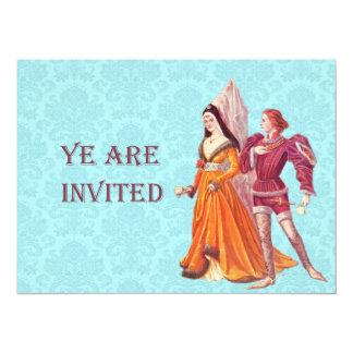 Senhor e senhora medievais convite personalizados